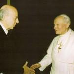 Ruspoli col Santo Padre Giovanni Paolo II prima dell'attentato