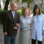 Ruspoli accompagnato dalla figlia Claudia riceve a Vignanello Margareth Tatcher.