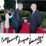 Ruspoli e l'ambasciatore d'America Spogli