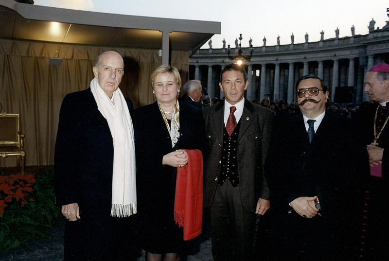 Ruspoli con il governatore della Carinzia Haider